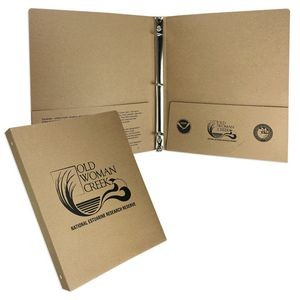 "Eco Brown Kraft Binder (9 3/4""x11 1/2"") Printed with 1 PMS Ink Color"