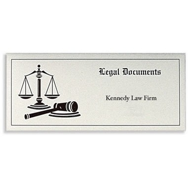 "Legal Documents Document Folder with Scales of Justice Design (10 1/4""x4 1/2"")"