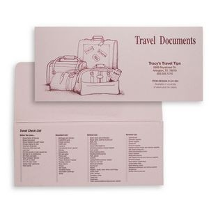 Travel Documents Folder with Standard Luggage Design (10 1/4