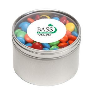 M&Ms® Plain in Lg Round Window Tin