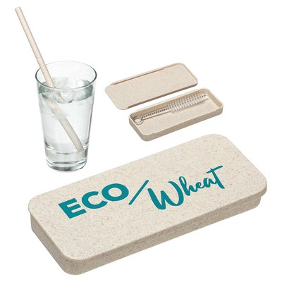 Eco Wheat Straw Kit With Cleaning Brush